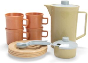 Sustainable kids play coffee set