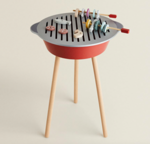Kids wooden toy barbecue