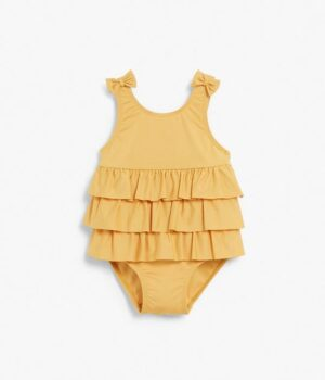 Baby yellow frill swimsuit