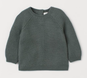 Grey textured wool jumper