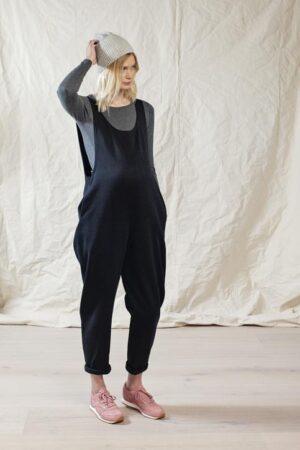 Black maternity jumpsuit