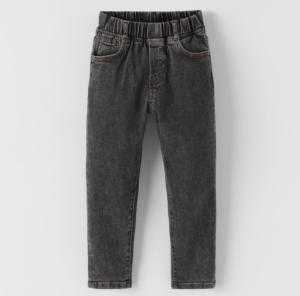Black wash stretch jogger jeans