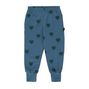 Blue heart print sweatpants