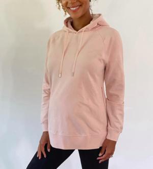 Blush maternity hoodie