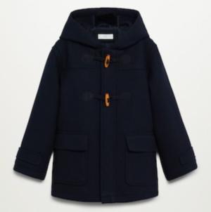 Navy toggle coat