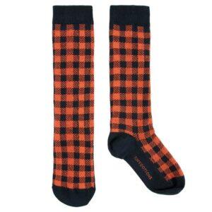 Check knee socks