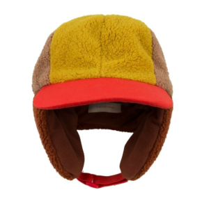 Colour block fleece kids hat
