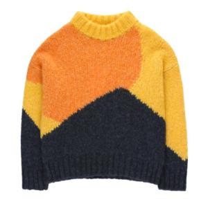 Colour block kids sweater