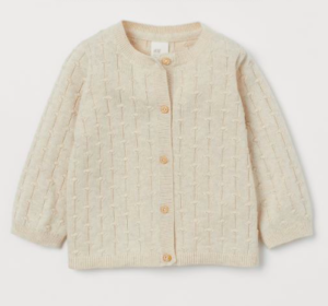 Cream knit baby cardigan