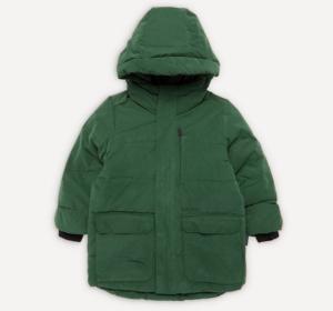 Green waterproof kids puffer jacket