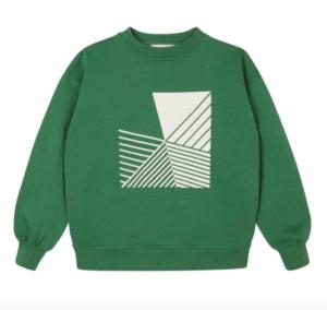 Green oversized sweatshirt