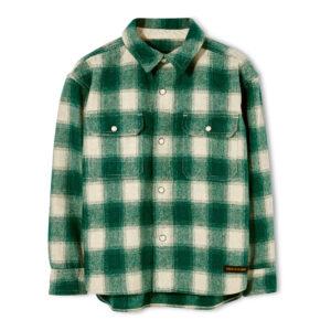 Green check boys shirt