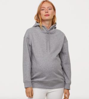 Grey marl maternity hoodie