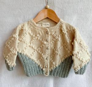 Heritage hand knit baby cardigan