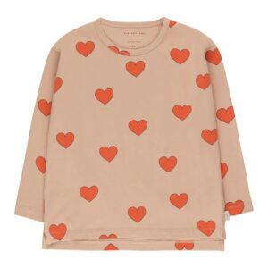 Heart print long sleeve t-shirt
