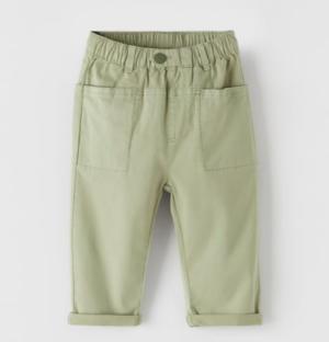 Khaki jogging trousers