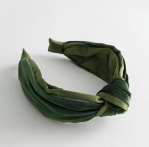 Velvet knot hairband