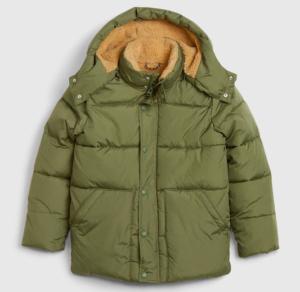 Kids khaki puffer jacket