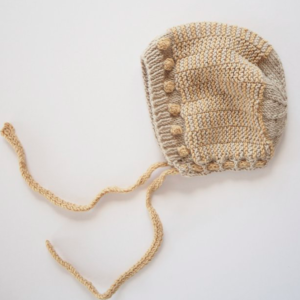 Knit baby bonnet