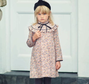 Girls floral winter dress