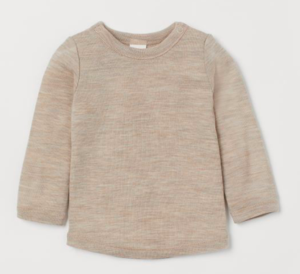 Mole wool baby top
