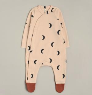 Moon print sleepsuit