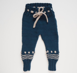 Navy knit baby leggings