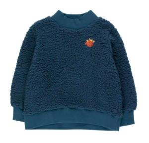 Navy sherpa sweatshirt