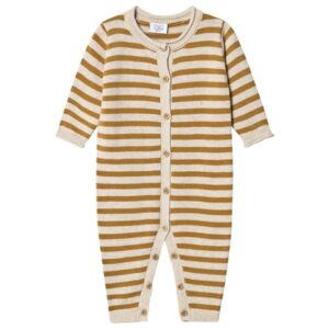 ochre stripe baby all-in-one