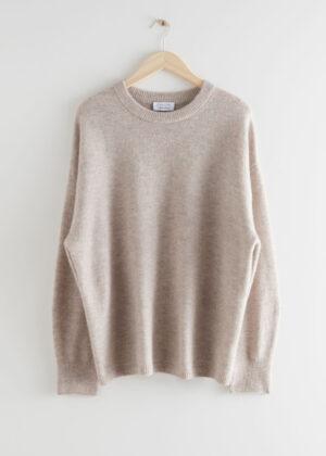 Oversized wool jumper