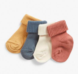 Ribbed muted baby socks