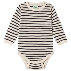 Striped wool baby bodysuit