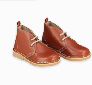 Kids tan leather desert boots