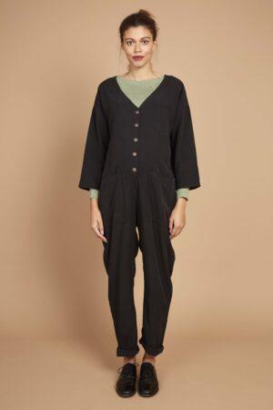Black maternity boilersuit