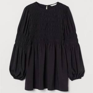 Black maternity smocked blouse