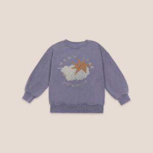 Bobo Choses purple lucky star sweatshirt