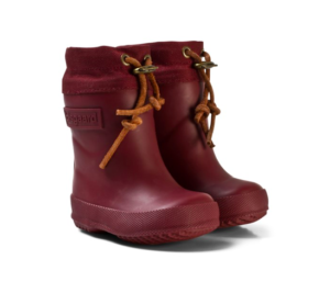 Burgundy natural rubber rain boots