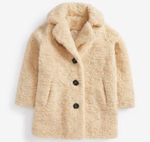 Cream borg coat