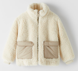 Cream faux shearling jacket