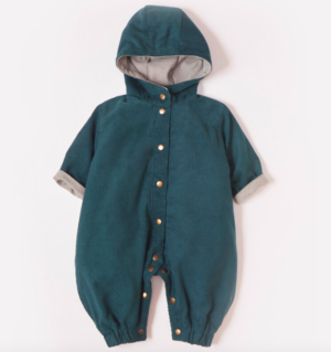 Forest green pram suit