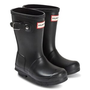 Kids black classic Hunter wellies