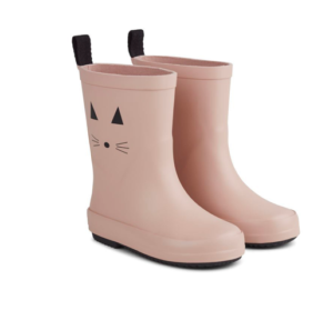 Kids rose cat wellies