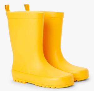 Yellow kids wellies