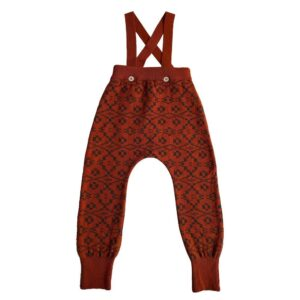 Mabli red knit baby pants