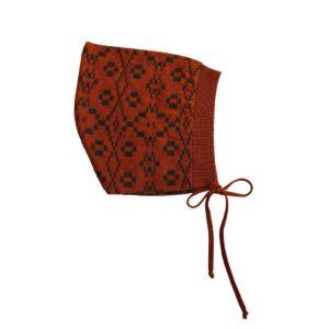 Mabli red knit bonnet