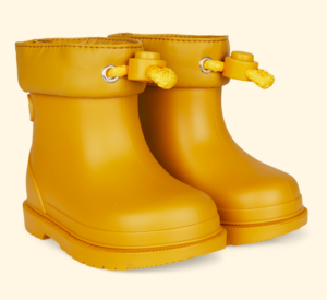 Mustard ankle wellies