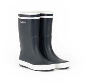 Navy kids classic rain boots
