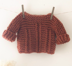 Rust chunky knit baby jumper