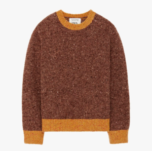 Sweater with piping