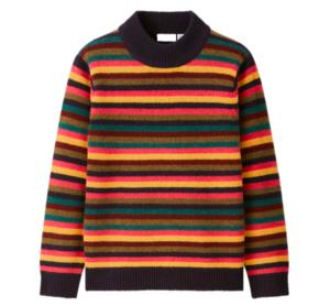 Striped lambswool sweater